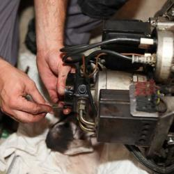 Réglage et entretien chaudière mazout.